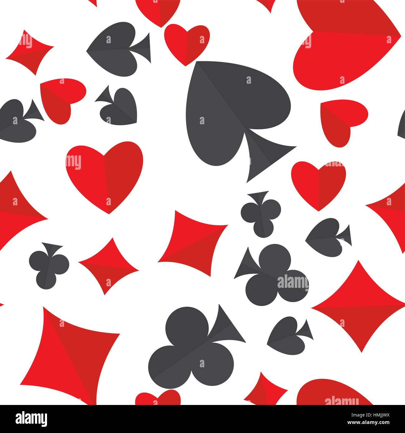 Playing Cards Suits Seamless Pattern Heart Diamond Club And Spade
