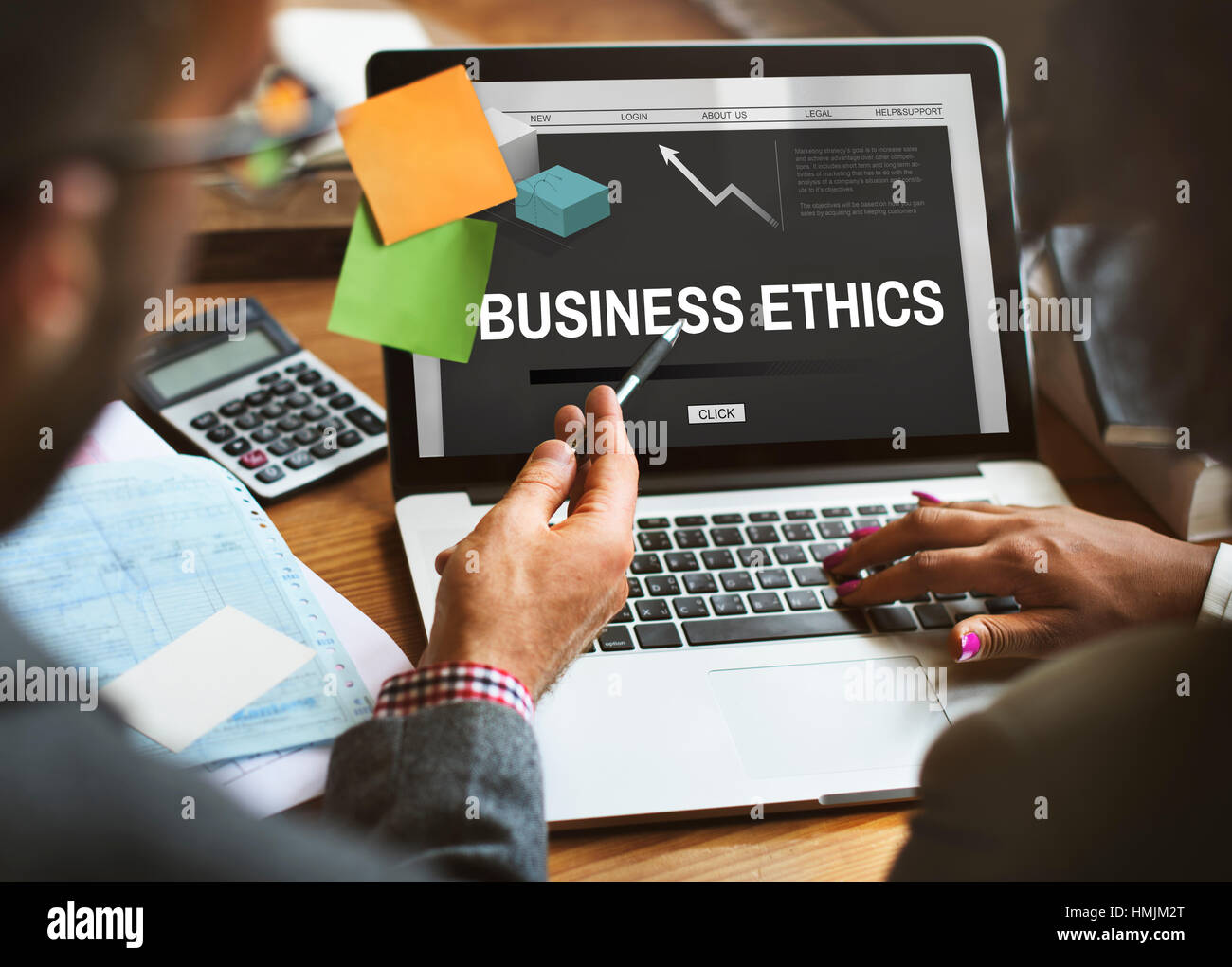 Business Ethics Strategy Development Concept - Stock Image