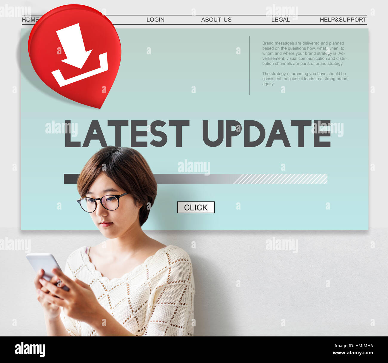 Latest Update Download Application Concept - Stock Image