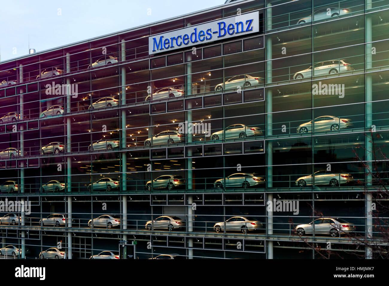Mercedes Benz Branch Munich - Bavaria, Germany Stock Photo