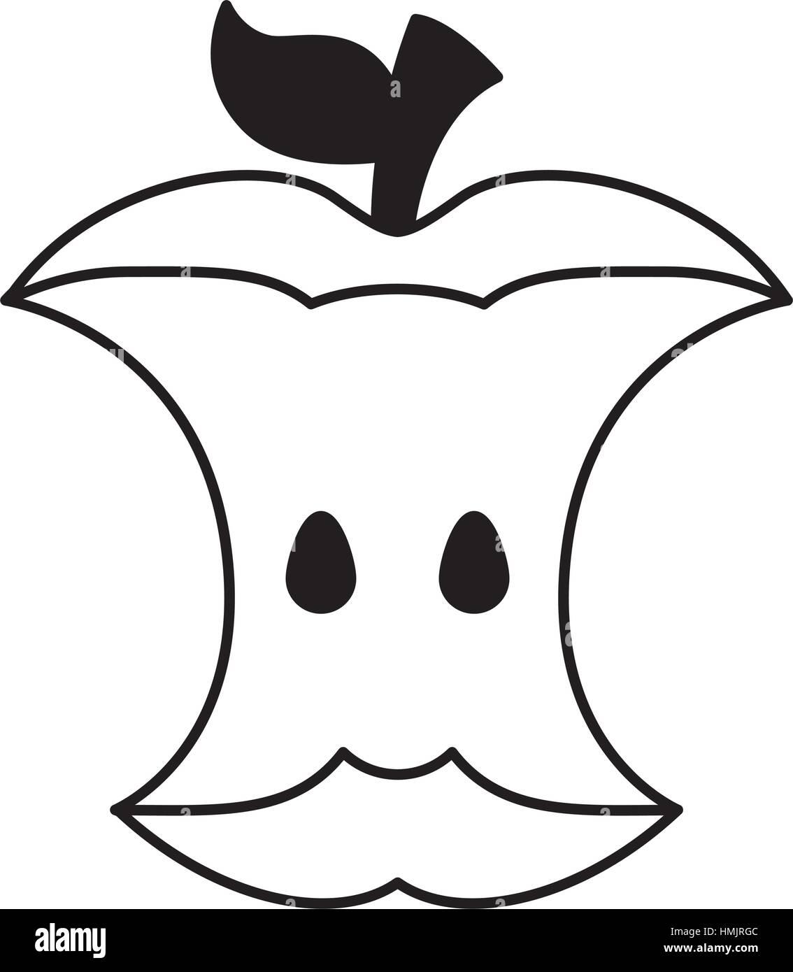 Apple scrap isolated icon vector illustration design - Stock Vector