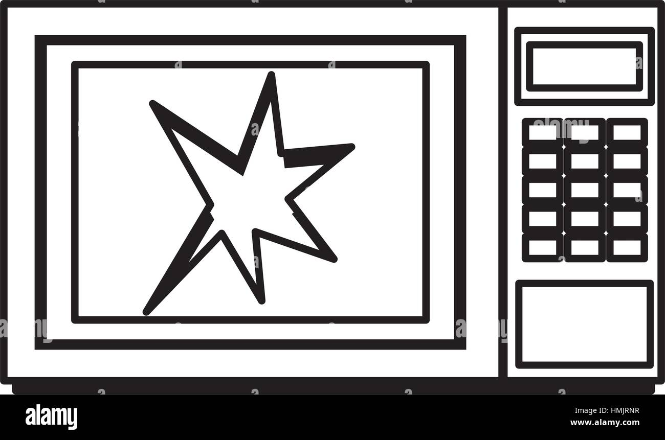 Broken microwave oven icon vector illustration design - Stock Vector