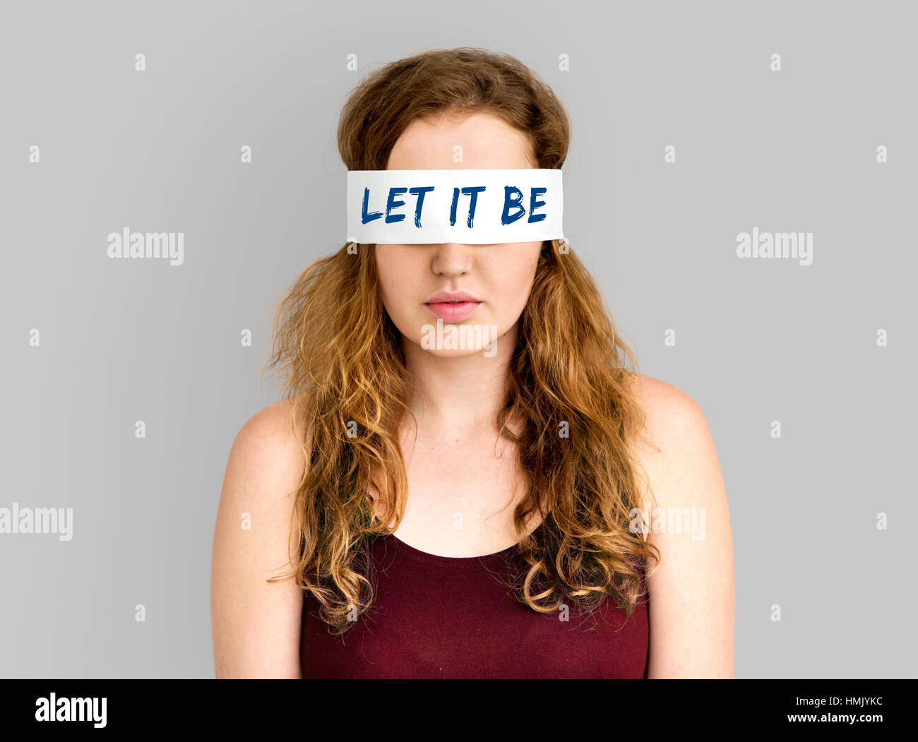 Let It Be Move On Carefree Ignorance Acceptance Concept - Stock Image