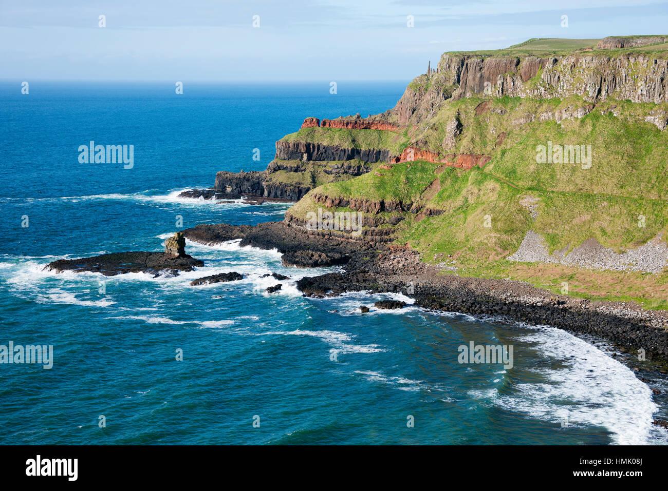 Giants Causeway, County Antrim, Northern Ireland, United Kingdom - Stock Image