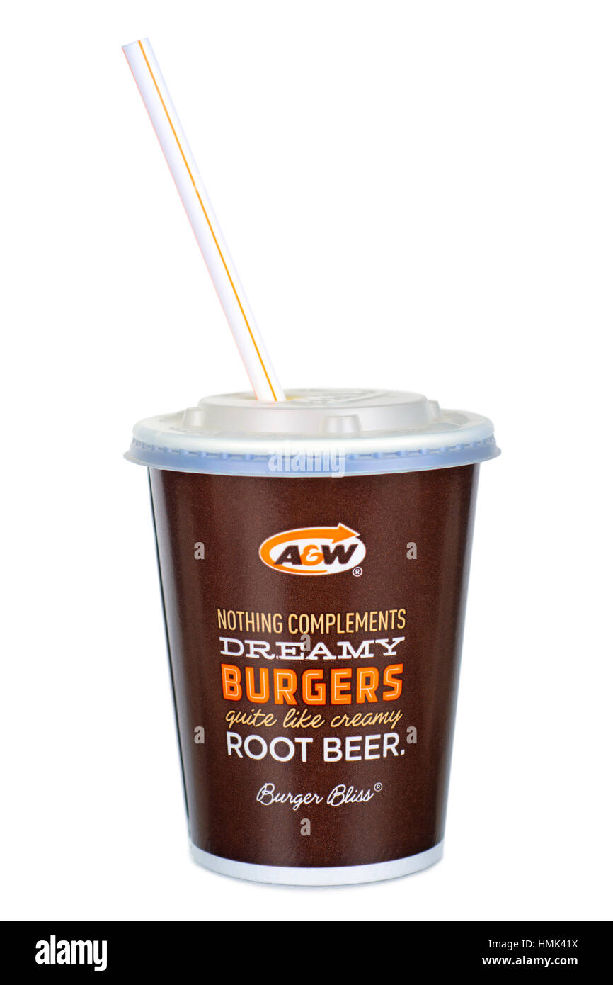 Root Beer, A &W Drink - Stock Image