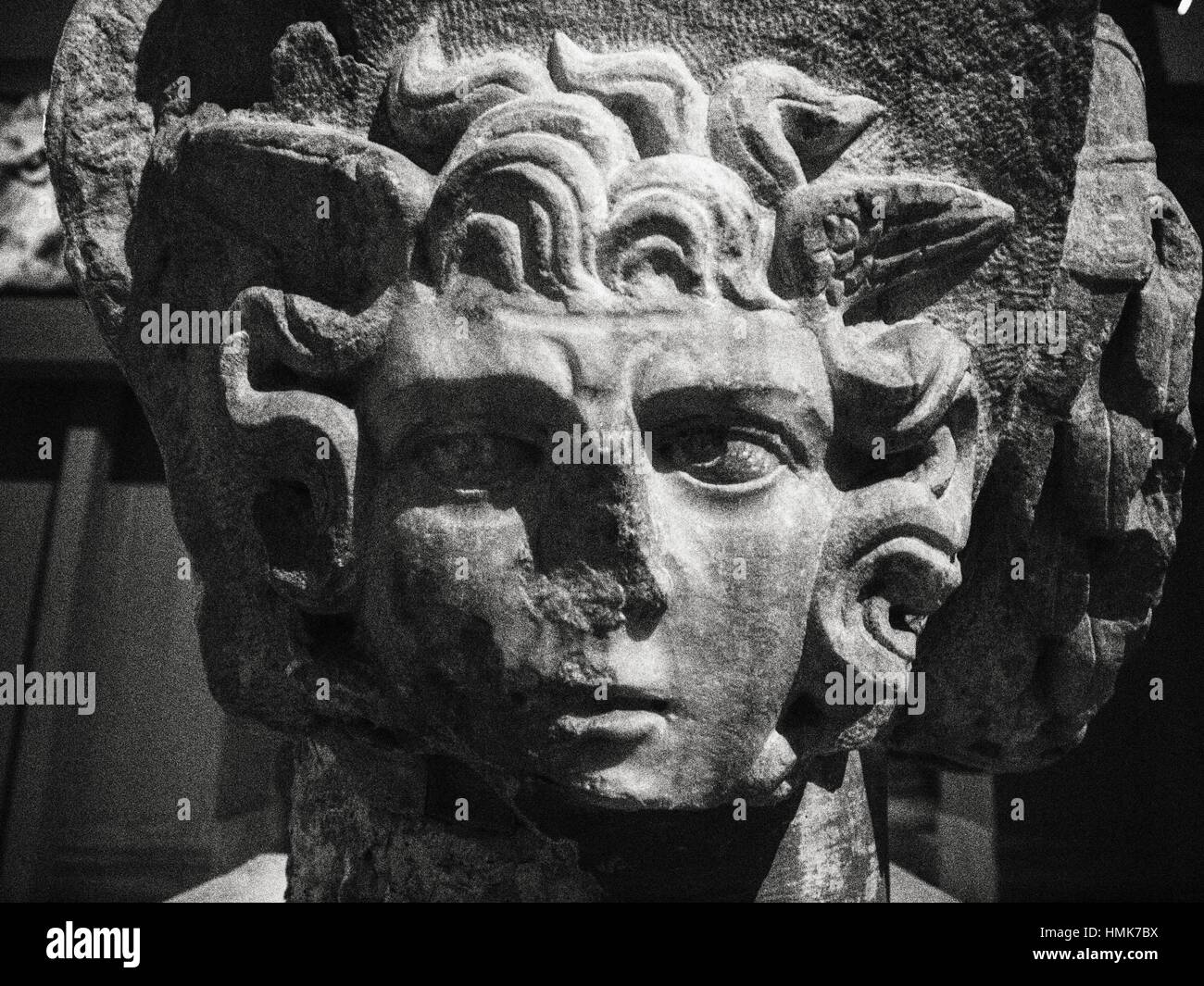 Capital Column. Early Roman Period. Classic collection. Archaeology Museum. Istanbul. Turkey. - Stock Image