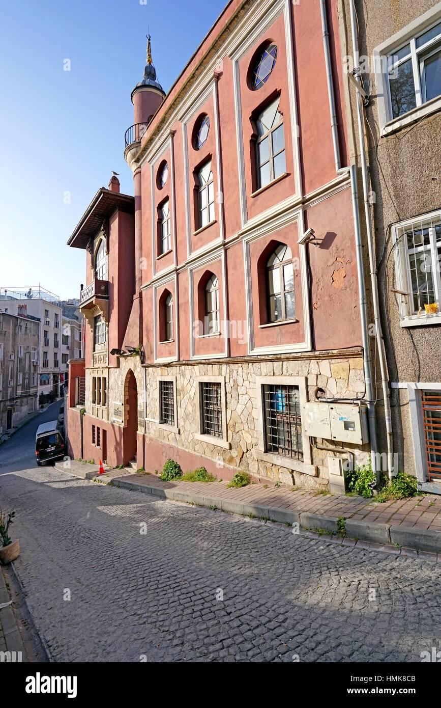 Former House of pilgrims from the Uzbeks of Bokhara (1692). Istanbul. Turkey Stock Photo