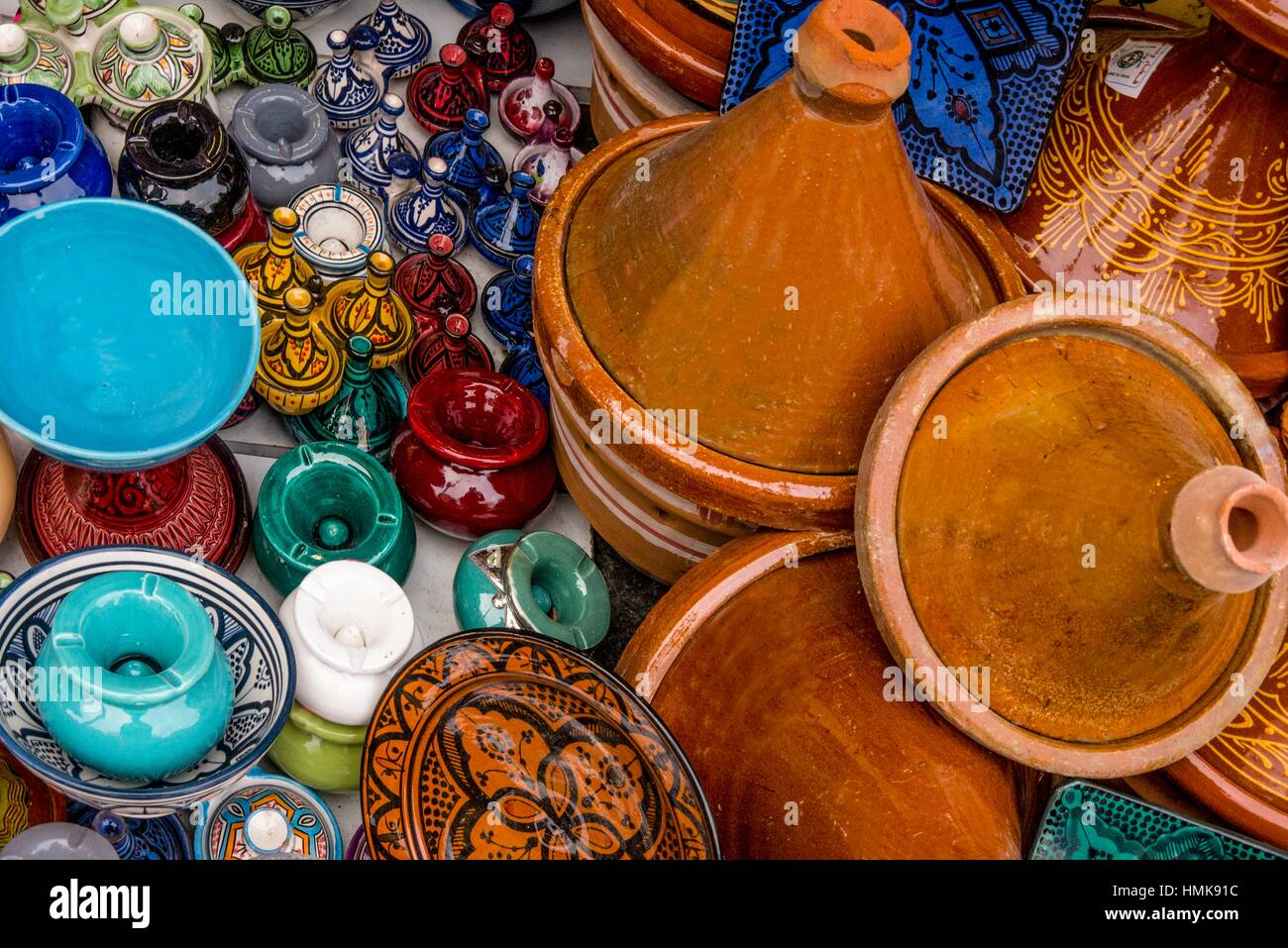 Handicrafts, ceramics, Morocco - Stock Image