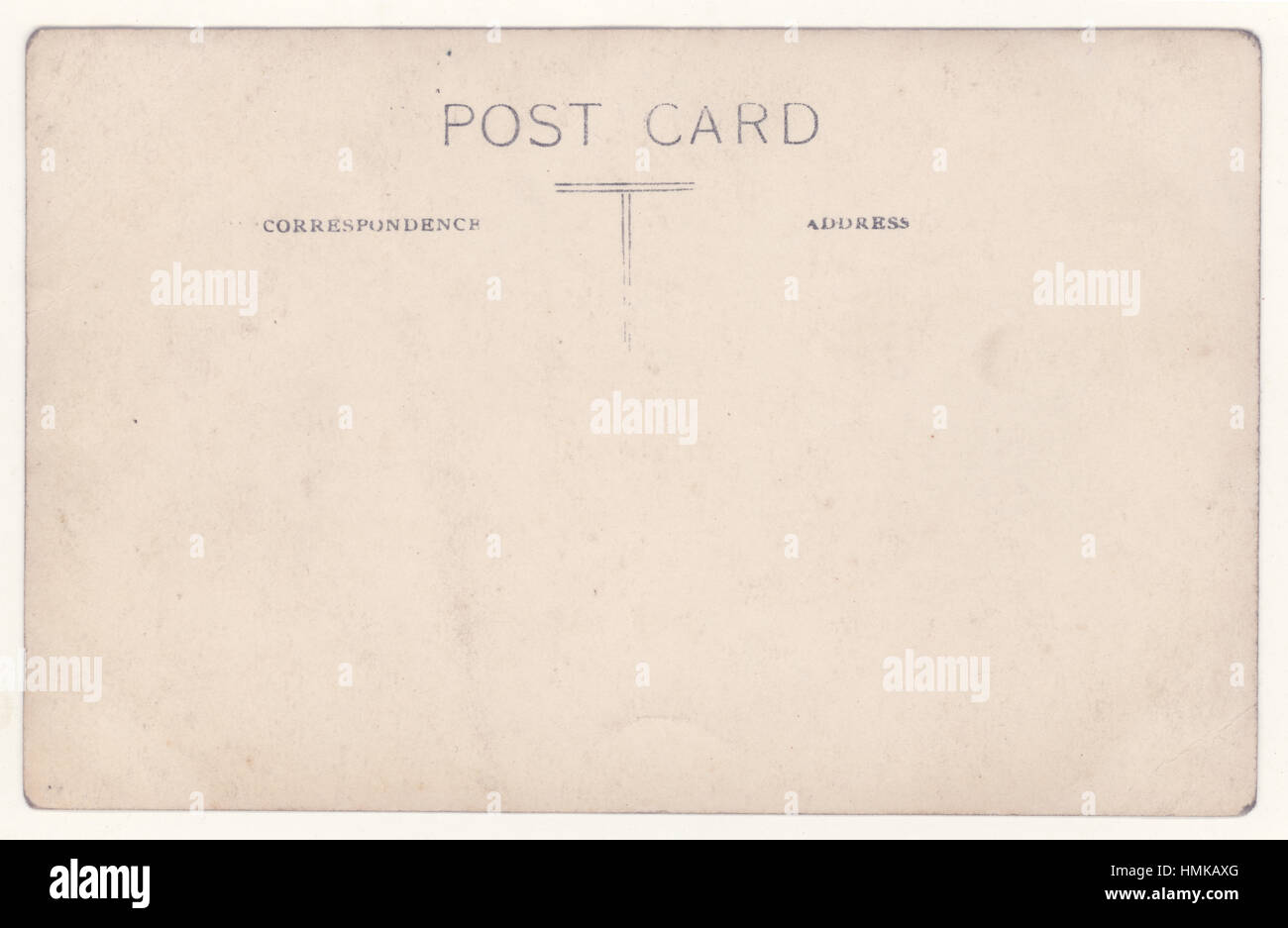 Reverse of early 1900's British Made postcard, U.K. - Stock Image
