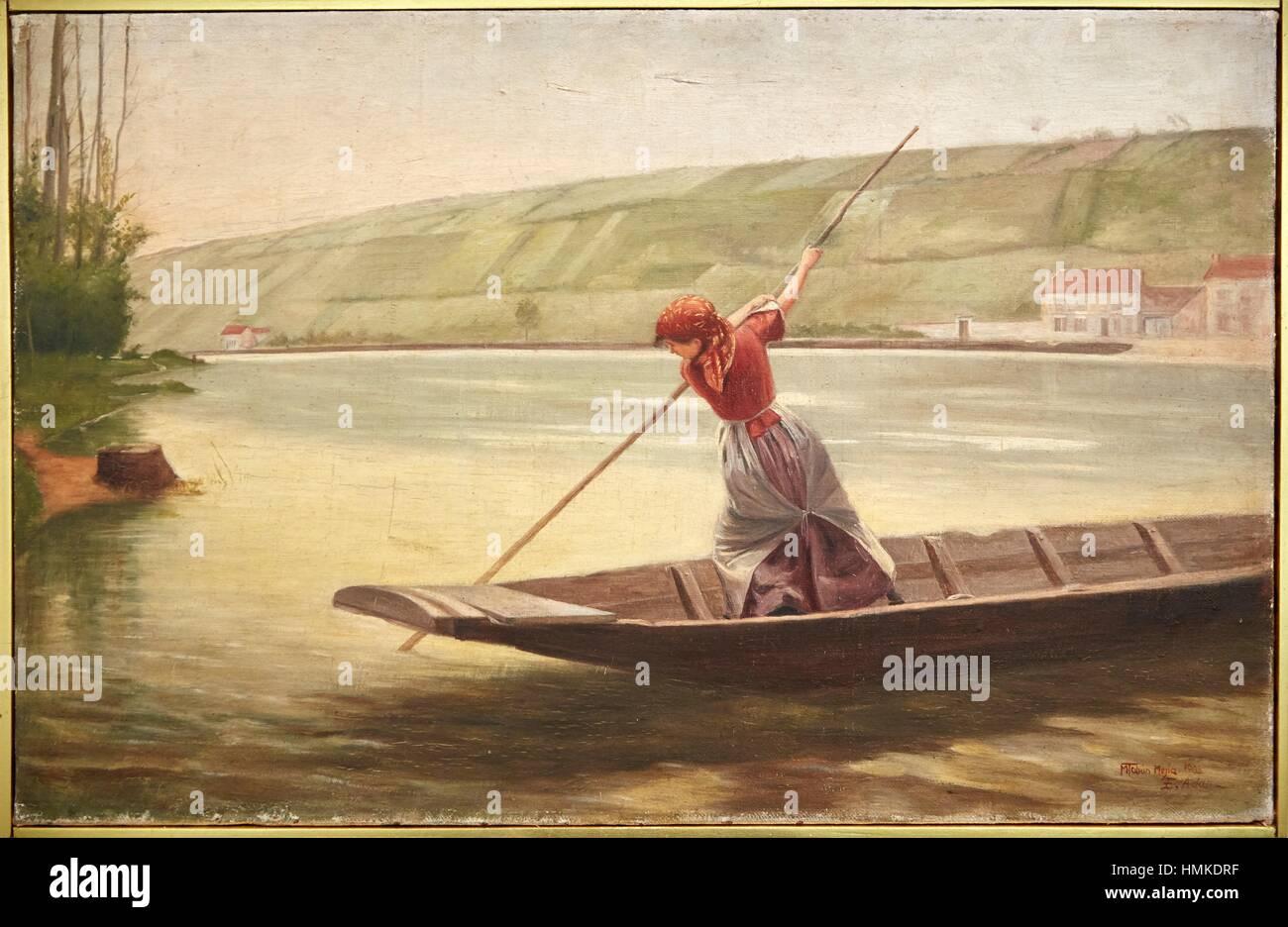 'Journey', 1902, Marco Tobón Mejía, Museo de Antioquia, Medellin, Antioquia, Colombia - Stock Image
