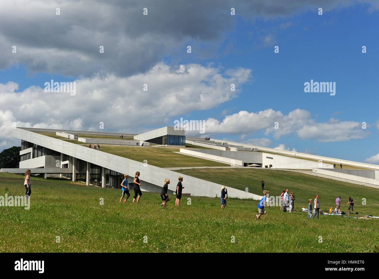 Moesgaard Museum (MOMU) (Henning Larsen Architects), museum dedicated to archaeology and ethnography, located in - Stock Image