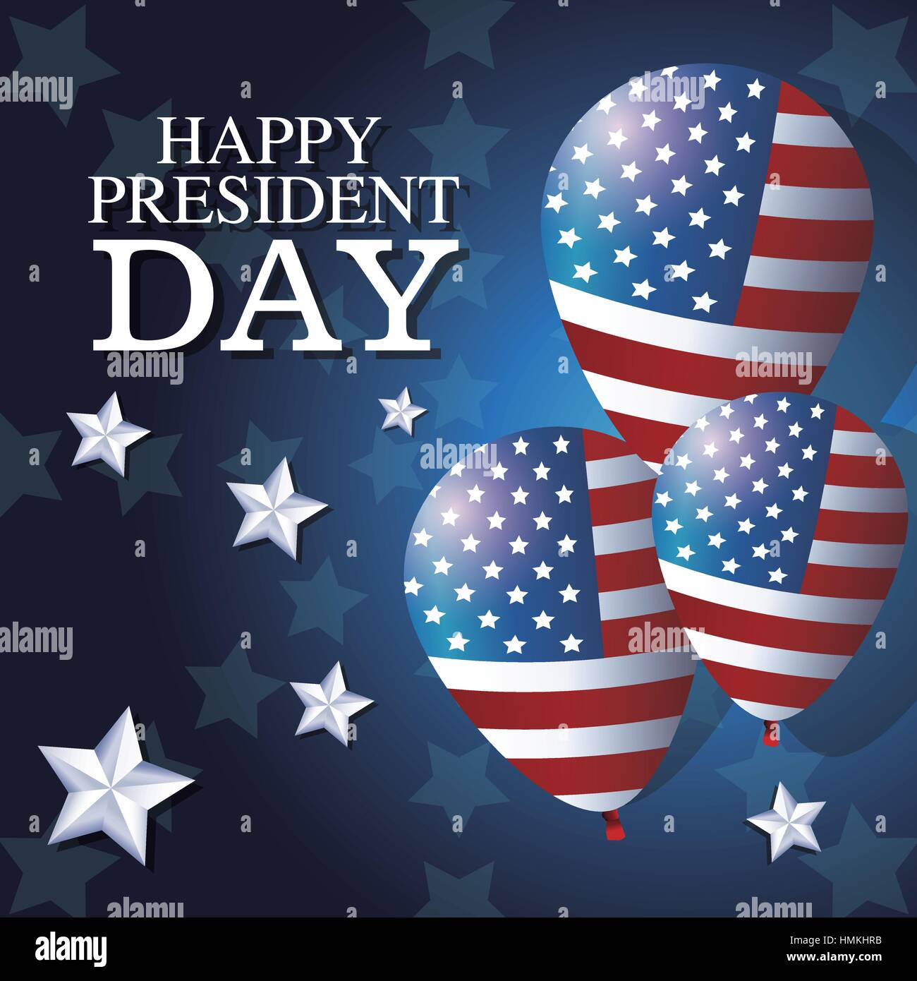 f9169f37d85 happy president day balloons flag star background Stock Vector Art ...