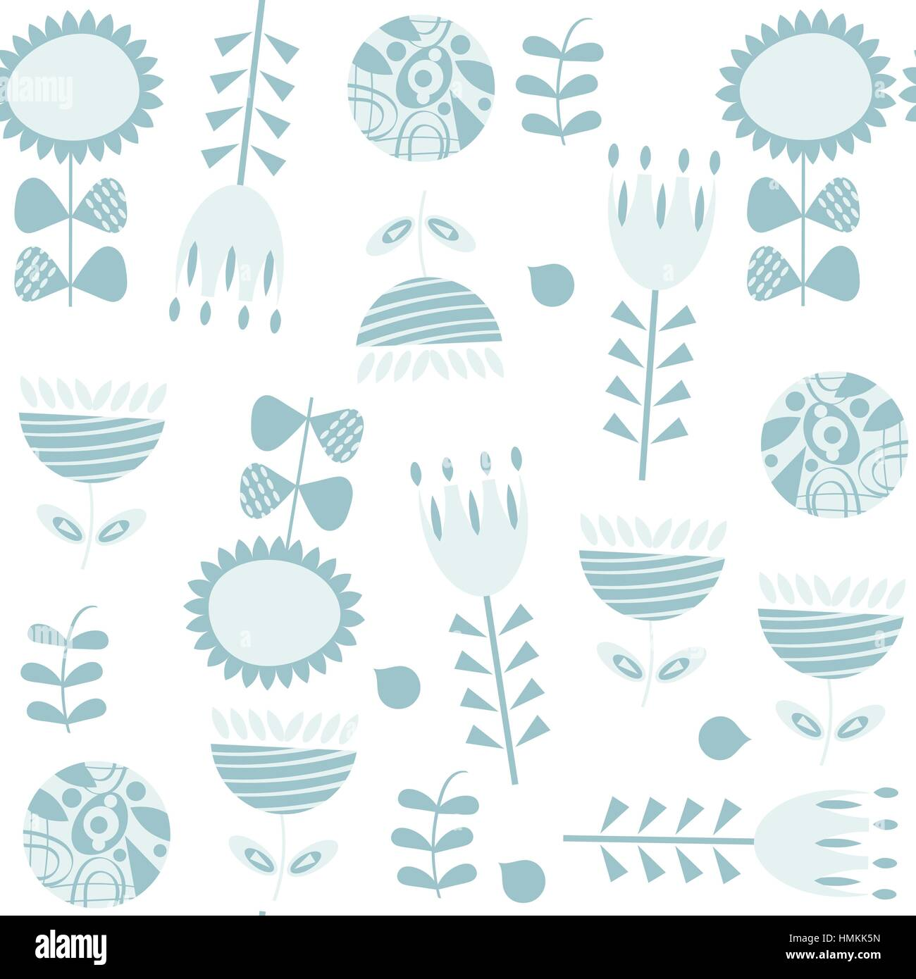 Floral seamless pattern, vector - Stock Vector