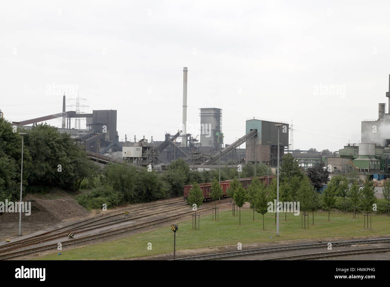 DUISBURG Germany steel plant in the Ruhr  area - Stock Image