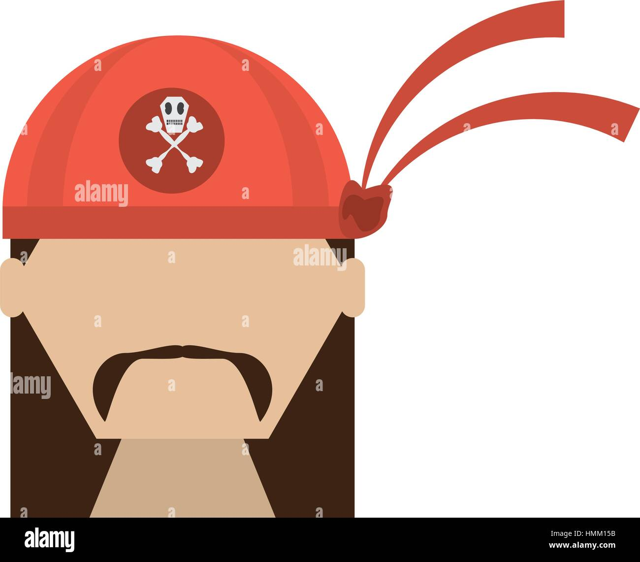 pirate red bandanna corsair bones vector illustration eps 10 - Stock Vector