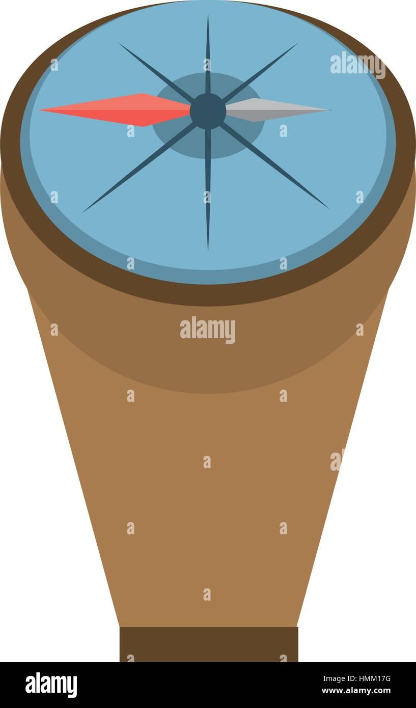compass marine localization tool vector illustration eps 10 - Stock Image