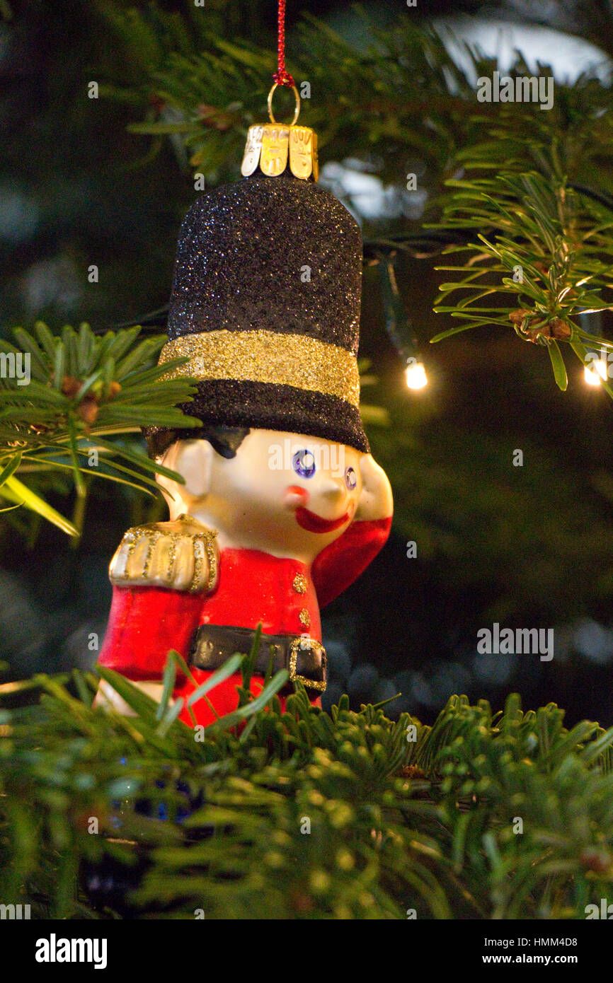 toy soldier christmas tree decoration stock image - Toy Soldier Christmas Decoration