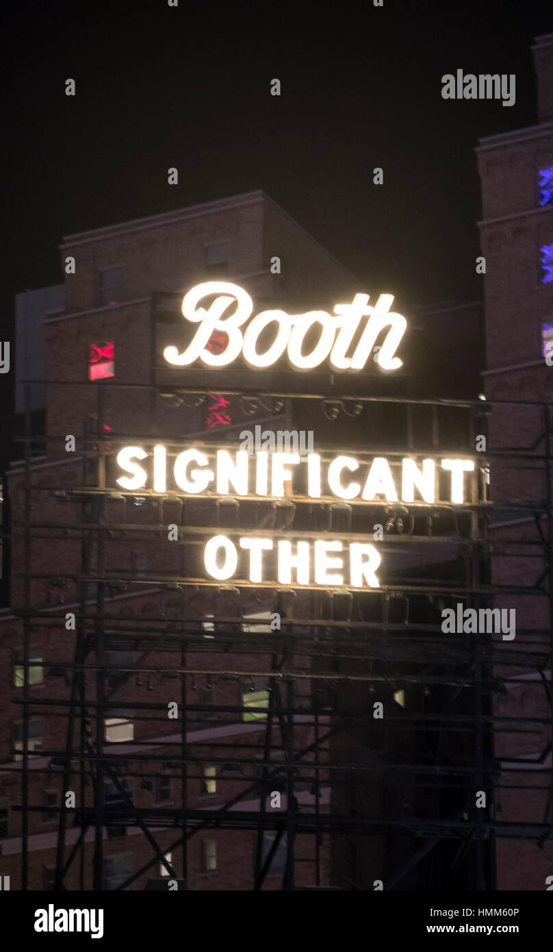 Significant Other, a comedy at the Booth Theatre in New York City - Stock Image