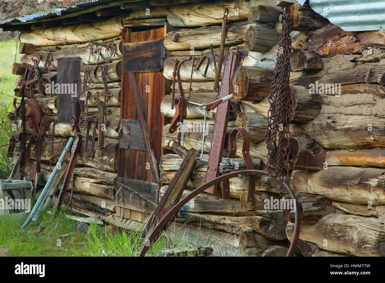 storage building tack room riddle brothers ranch national historic rh alamy com Rustic Tack Rooms Horse Tack Room