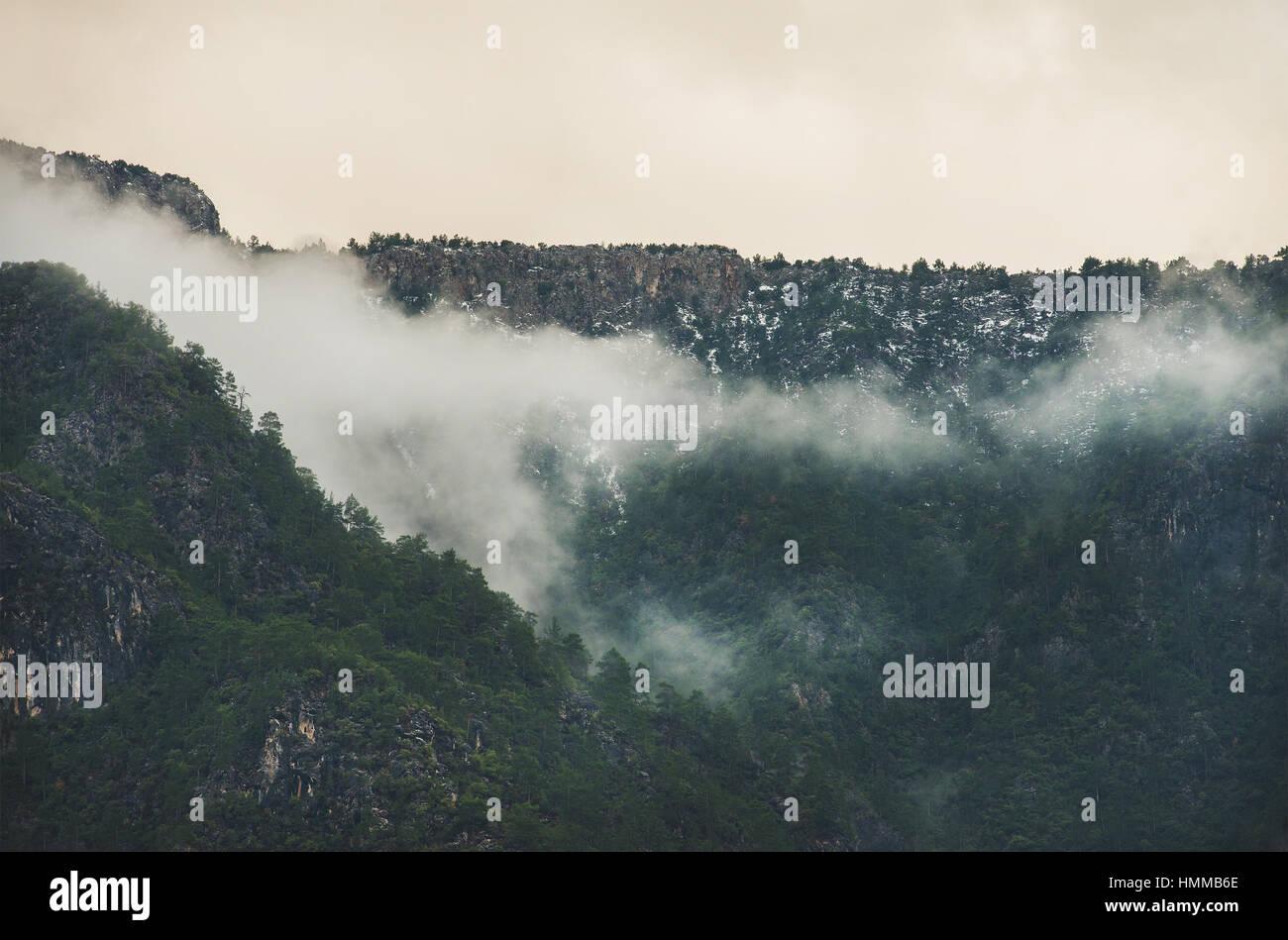 Green slopes of the Taurus mountains, Alanya, Turkey - Stock Image