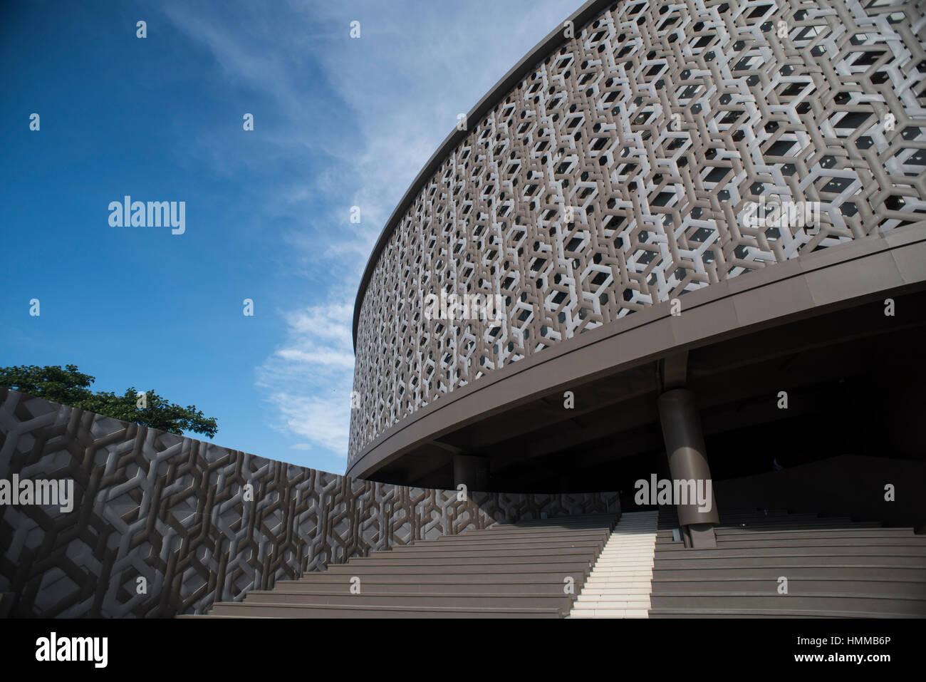 The Aceh Tsunami Museum, Banda Aceh, Sumatra, Indonesia. Stock Photo