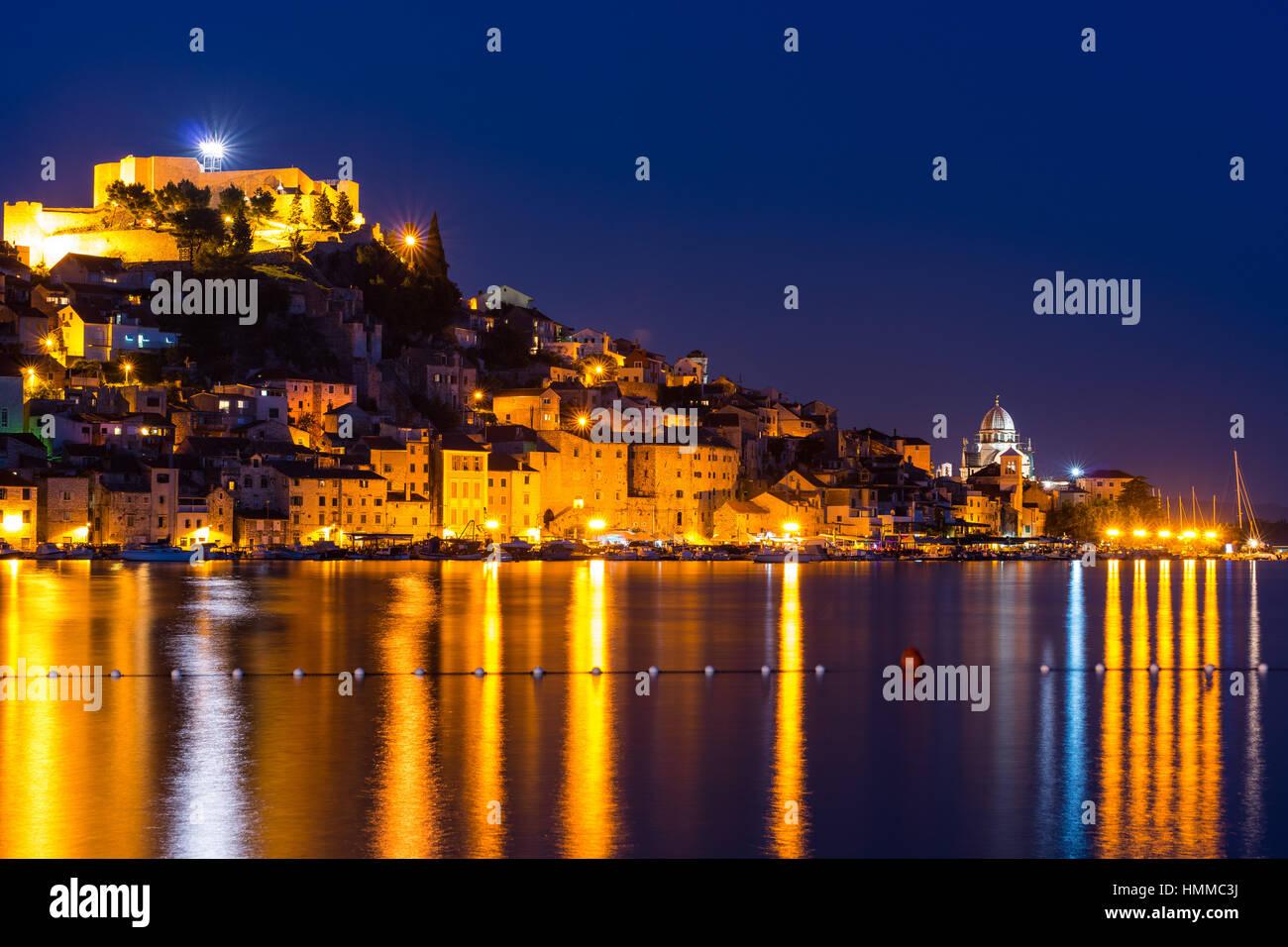 City of Sibenik, Adriatic coast, Croatia - Stock Image