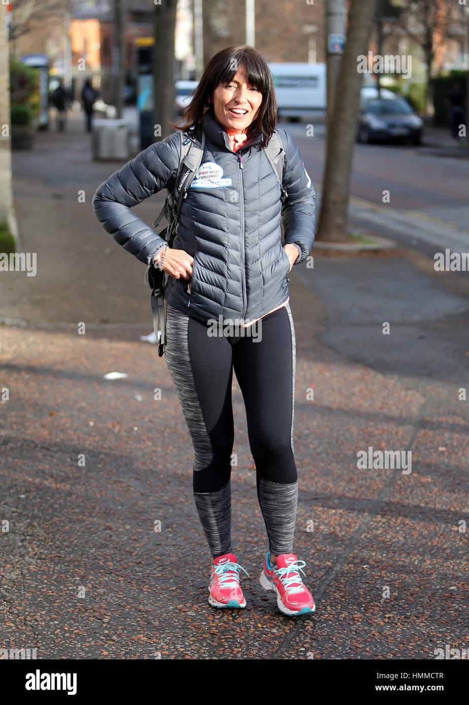 Davina McCall outside ITV Studios Featuring: Davina McCall Where ...