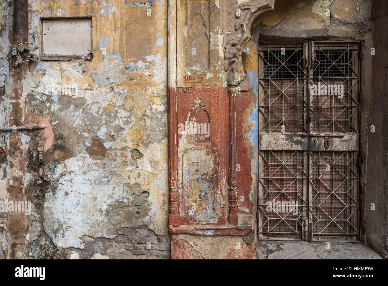 Gated door way in dilapidated wall in Delhi & Gated door way in dilapidated wall in Delhi Stock Photo: 133216661 ...