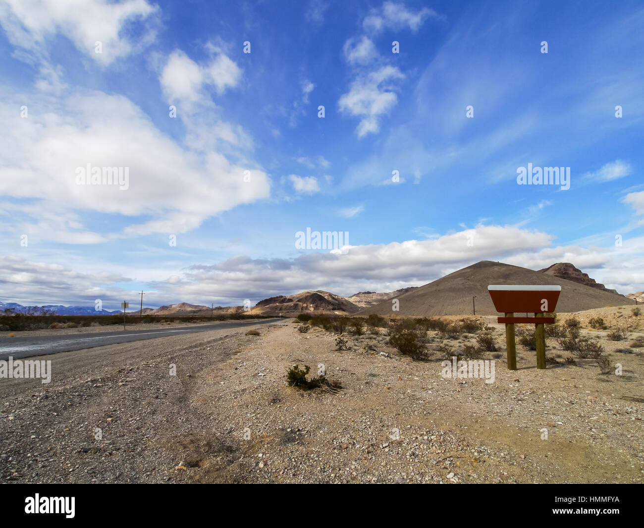 Entrance of Rhyolite, Nevada of United States. - Stock Image