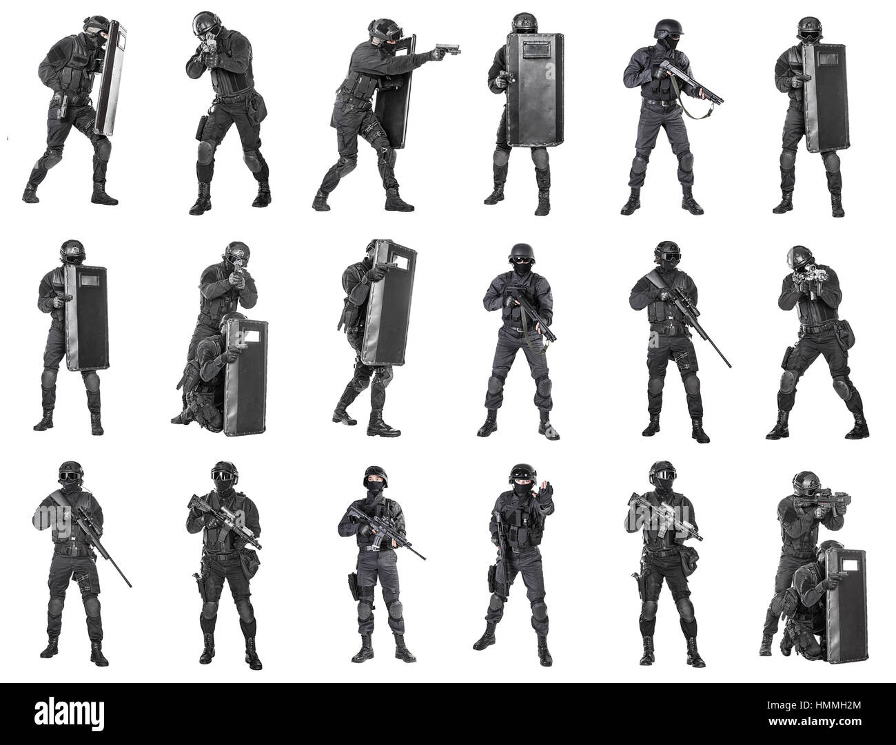 police officers SWAT - Stock Image