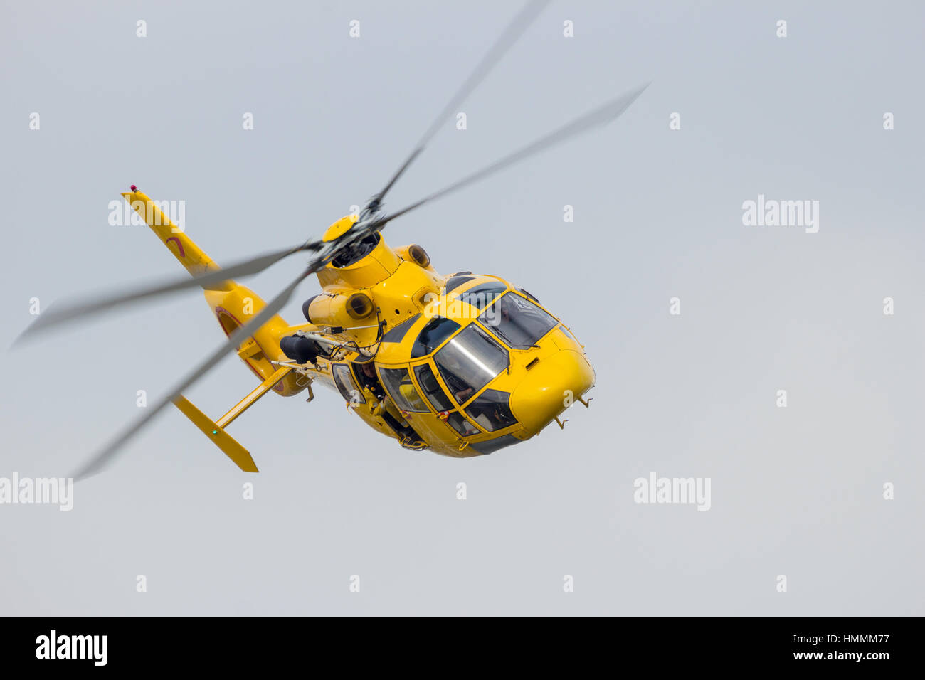 ROTTERDAM, NETHERLANDS - SEP 3, 2016: Eurocopter AS365 N3 Daupin II rescue helicopter from NHV-Noordzee Helikopters. - Stock Image