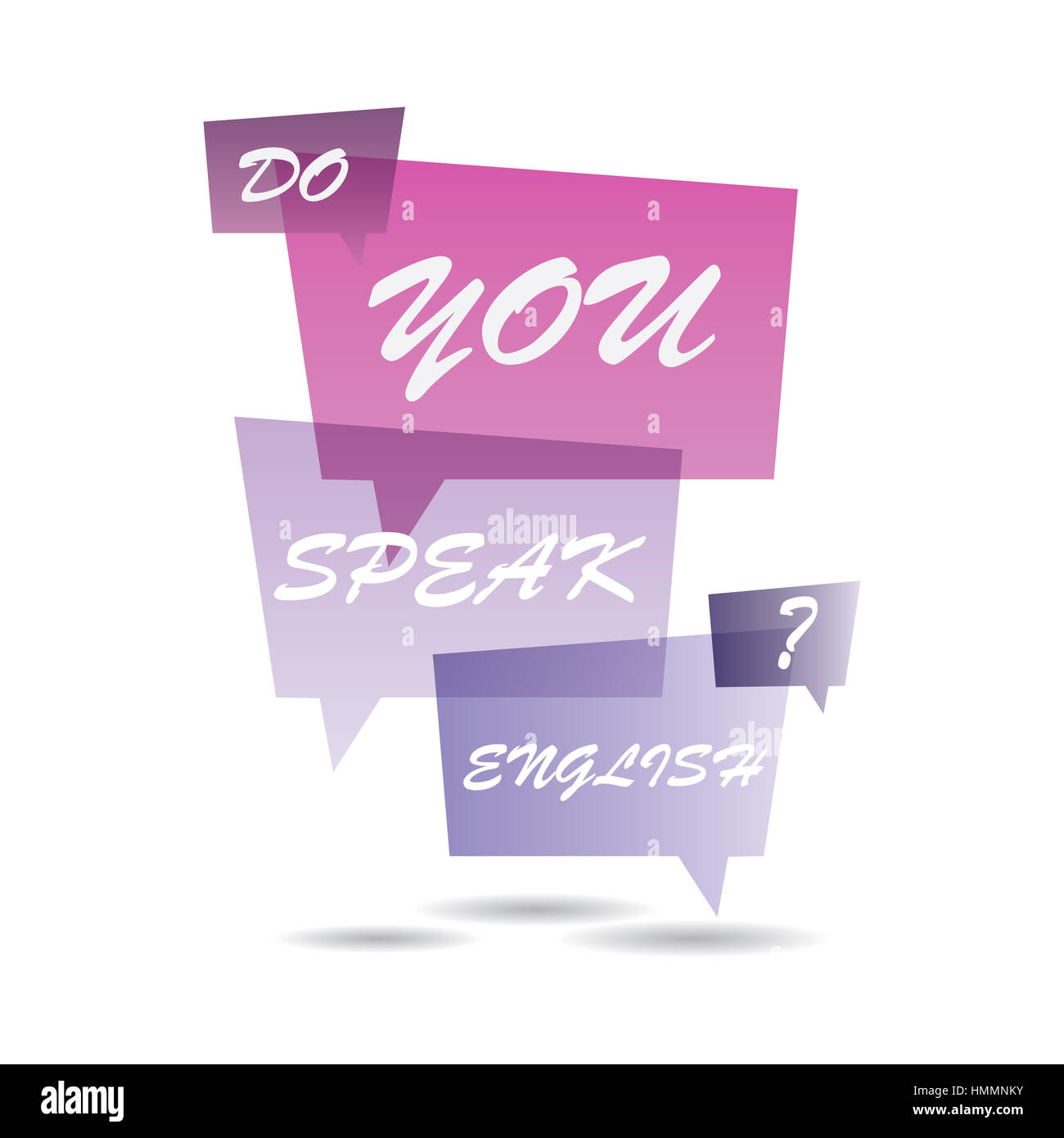 Do You Speak English on Speech Bubbles - Stock Image