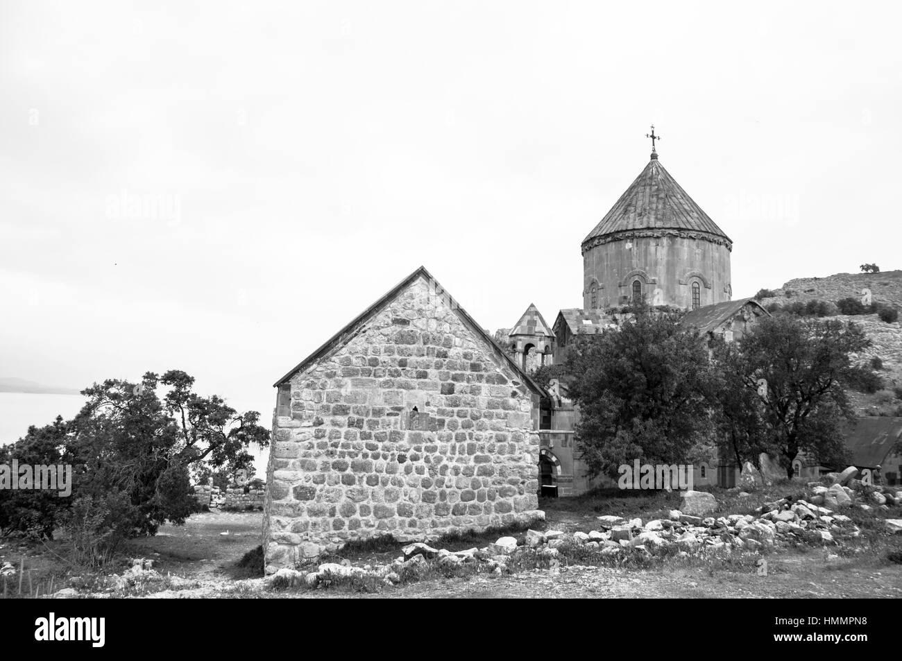 Armenian Church, Achdamar Island - Van, Turkey - Stock Image