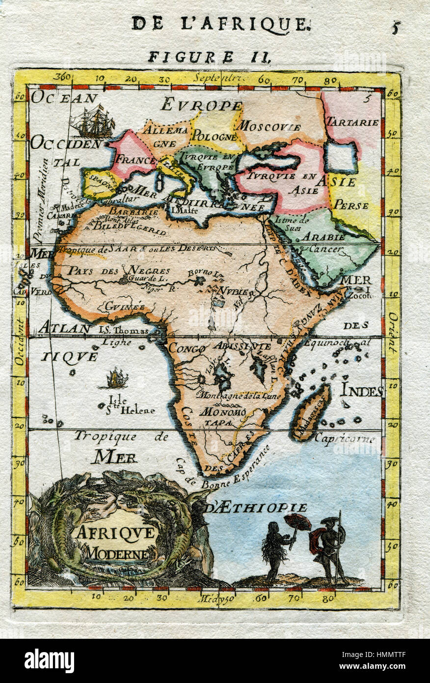 Antique Map Of Africa 1683 Stock Photo 133224239 Alamy