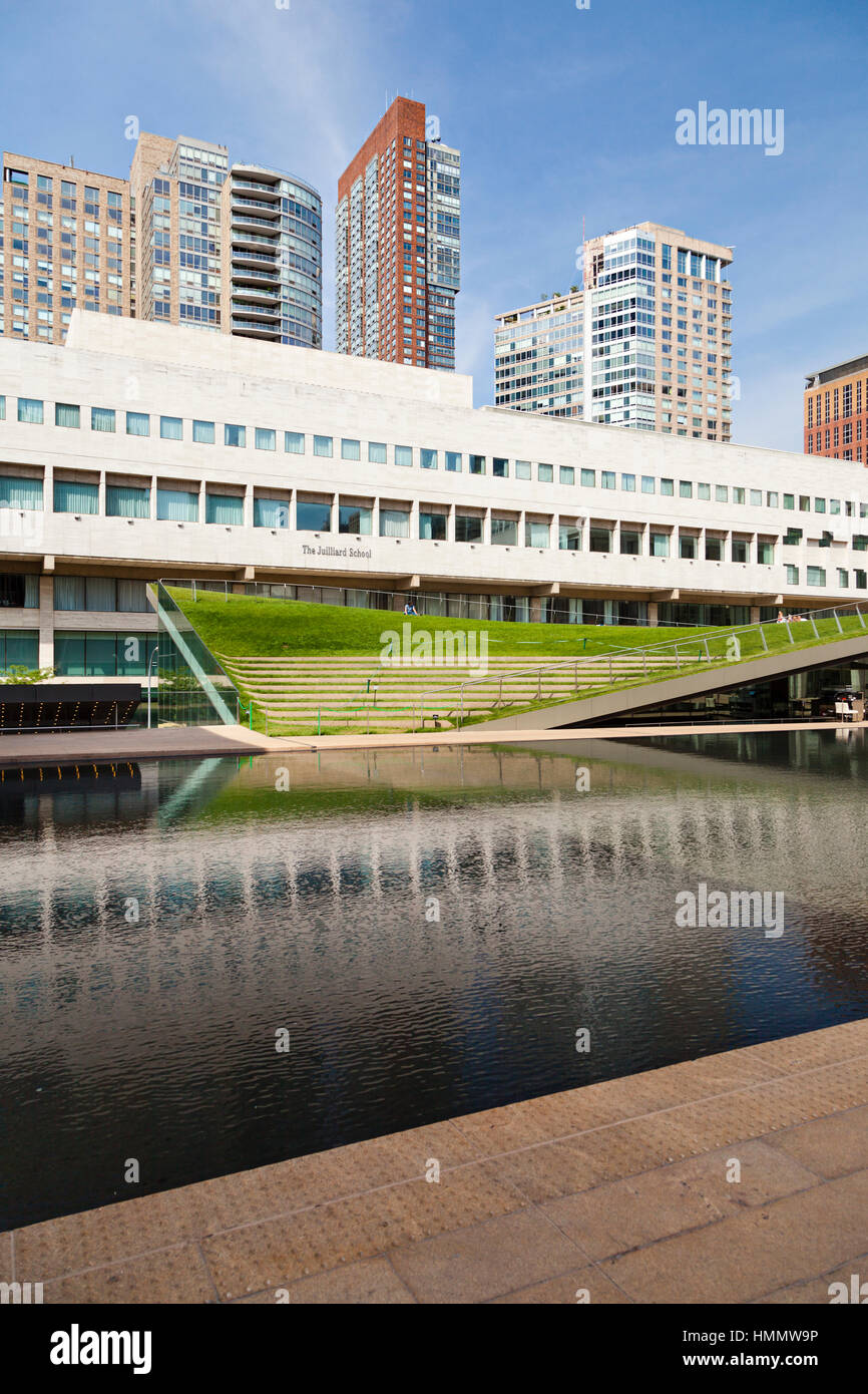 New York City - June 22: Paul Milstein Pool and Terrace at Lincoln Center in New York on June 22, 2013 - Stock Image