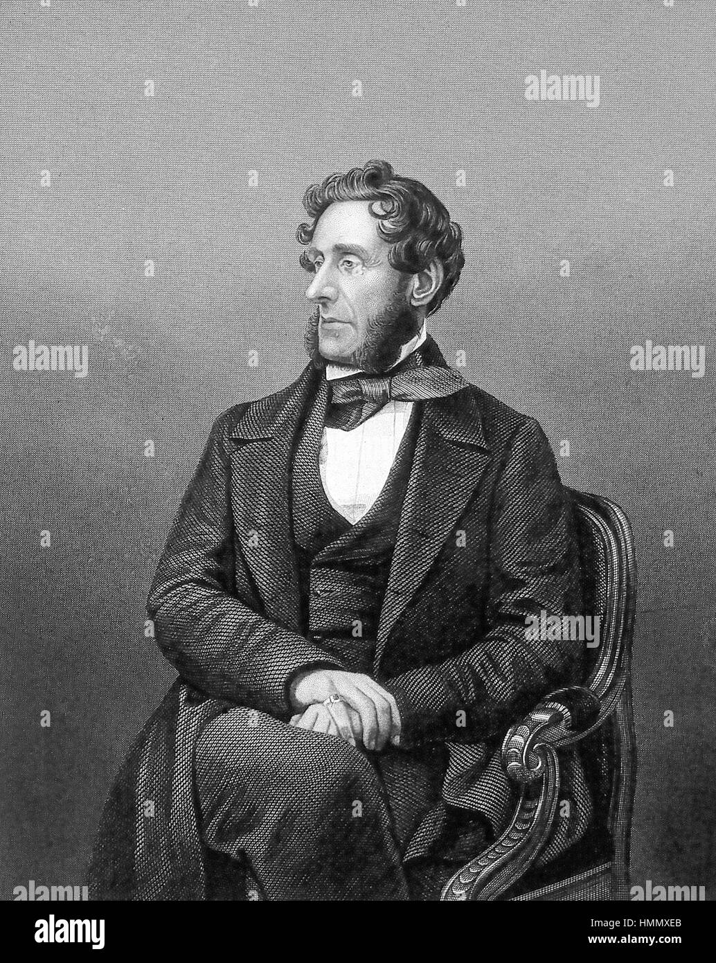 ANTHONY ASHLEY-COOPER, 7th Earl of Shaftesbury (1801-1885) English politician and social reformer - Stock Image