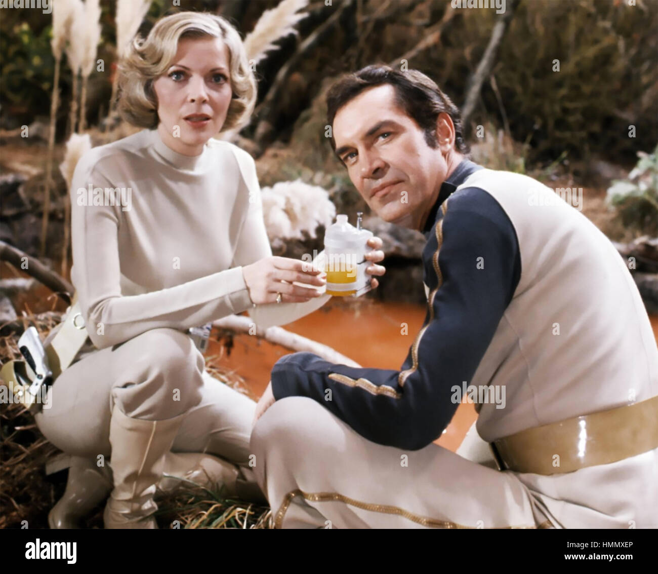 SPACE 1999  ITC/ITV sci-fio TV series 1975-1977 with Martin Landau and Barbara Bain - Stock Image