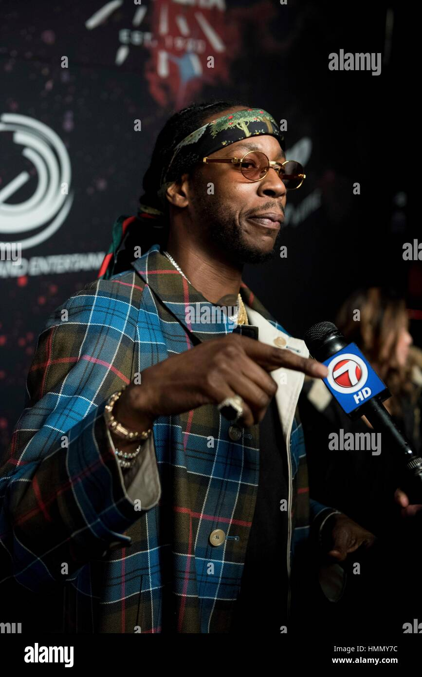 Houston, USA. 03rd Feb, 2017. Rapper 2 Chainz attends the red carpet of the Planet New Era Super Bowl LI Party on - Stock Image