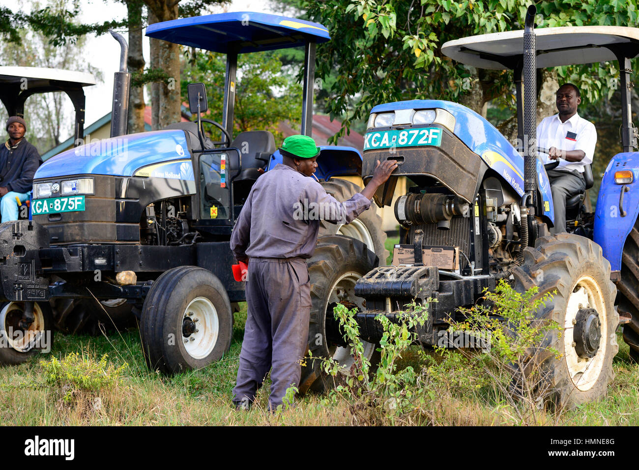 KENYA, County Kakamega, Bukura, ATDC Agricultural Technology Development Center, New Holland tractor / KENIA, ATDC - Stock Image