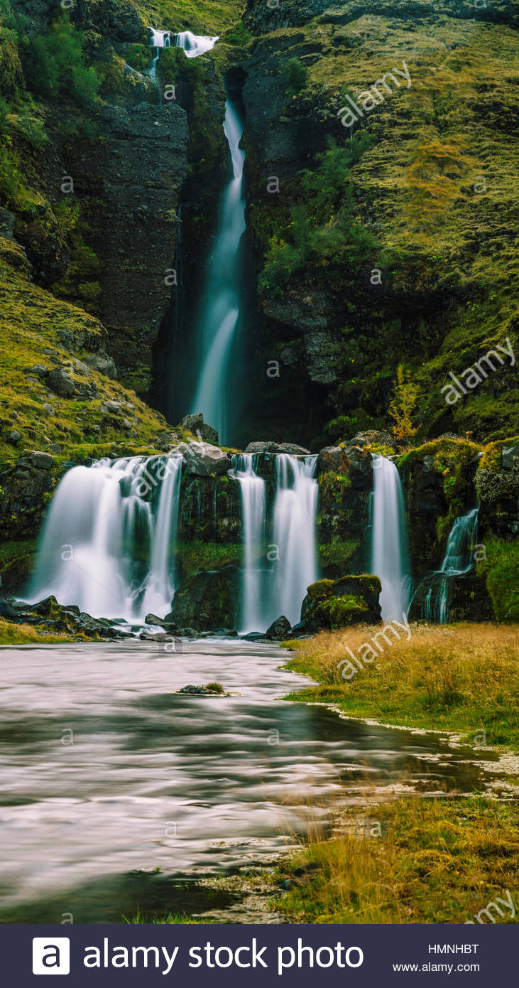 Gluggafoss waterfall in Southern Iceland - Stock Image