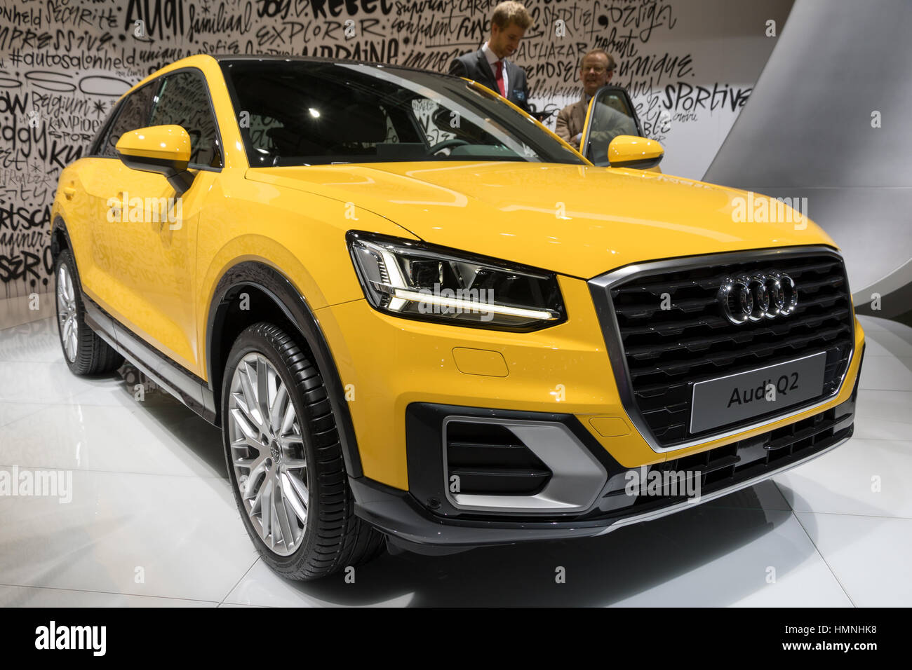 BRUSSELS - JAN 19, 2017: Audi Q2 presented at the Brussels Motor Show. - Stock Image