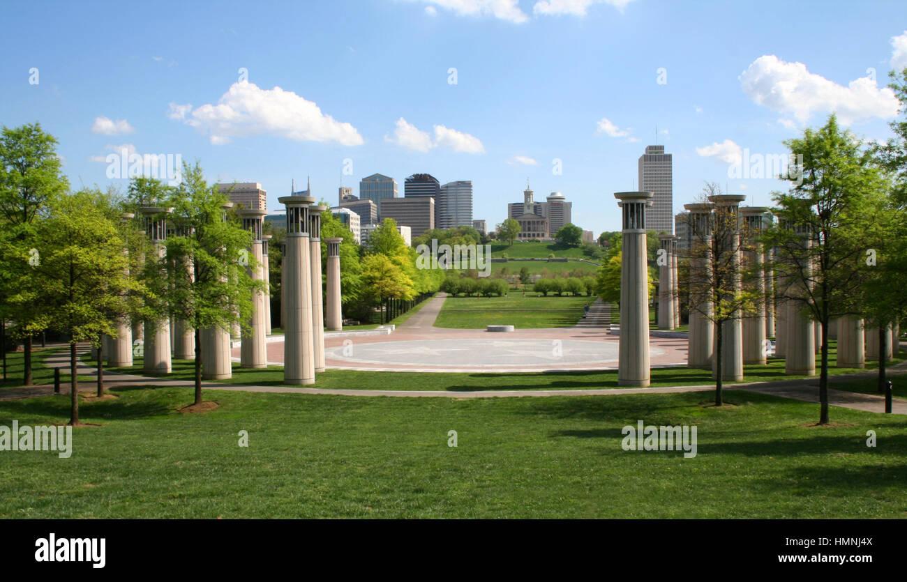 Bicentennial State Mall Park, Nashville - Stock Image