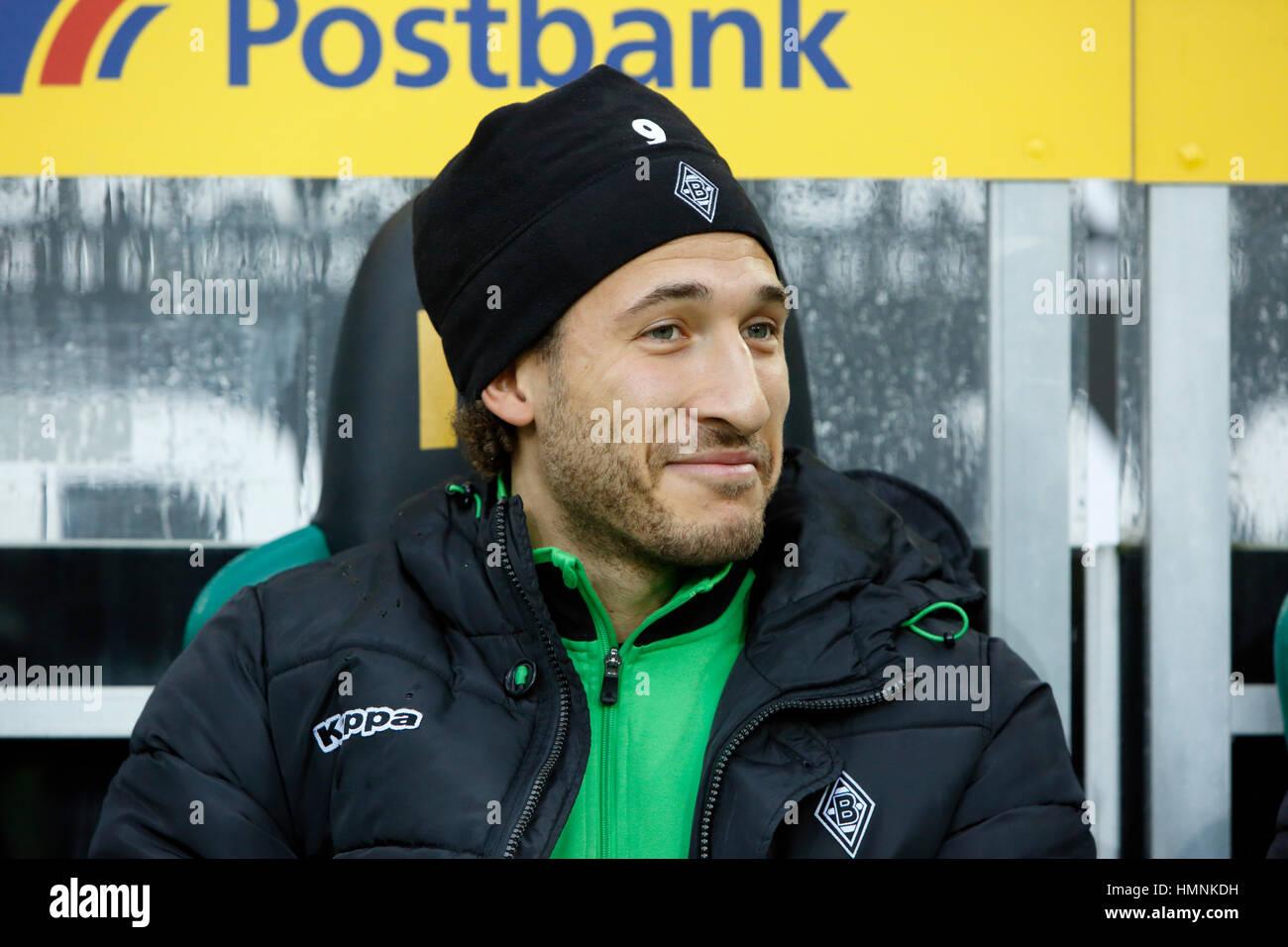 sports, football, Bundesliga, 2016/2017, Borussia Moenchengladbach versus SC Freiburg 3:0, Stadium Borussia Park, - Stock Image