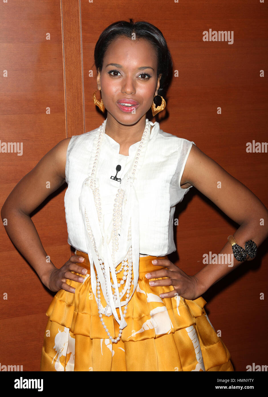 """Kerry Washington attending the New York Times TimesTalk Event """"An Evening with Neil LaBute and Friends"""" at the New Stock Photo"""