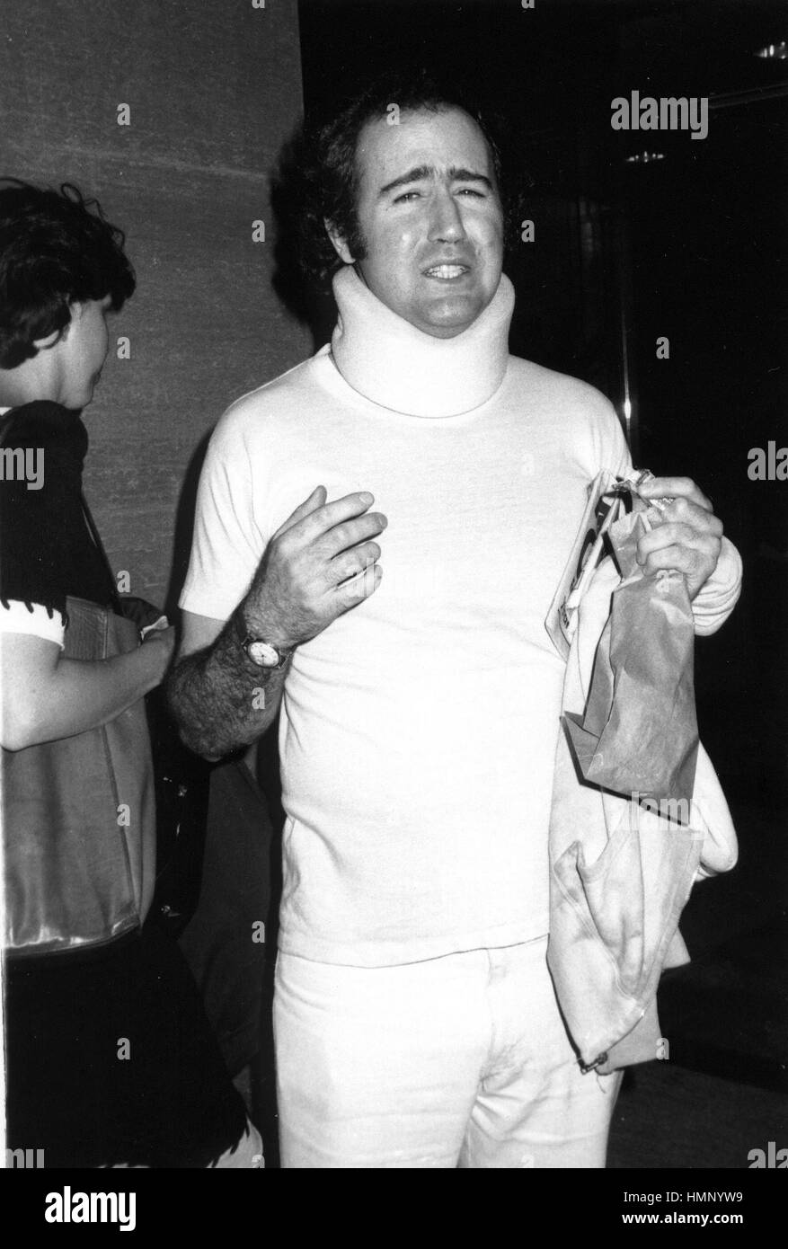 b888683b75d9 ANDY KAUFMAN (MID 1980'S) STAR OF TAXI, HERE WITH A NECK INJURY AFTER