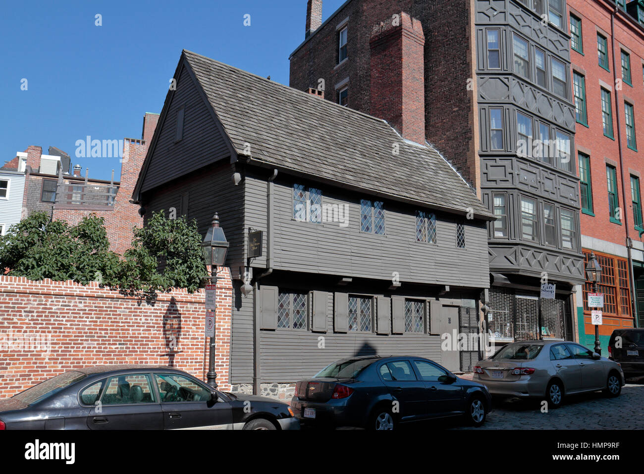 The Paul Revere House, Colonial Home Of American Patriot Paul Revere During  The Time Of The American Revolution, Boston, Massachusetts, United States.