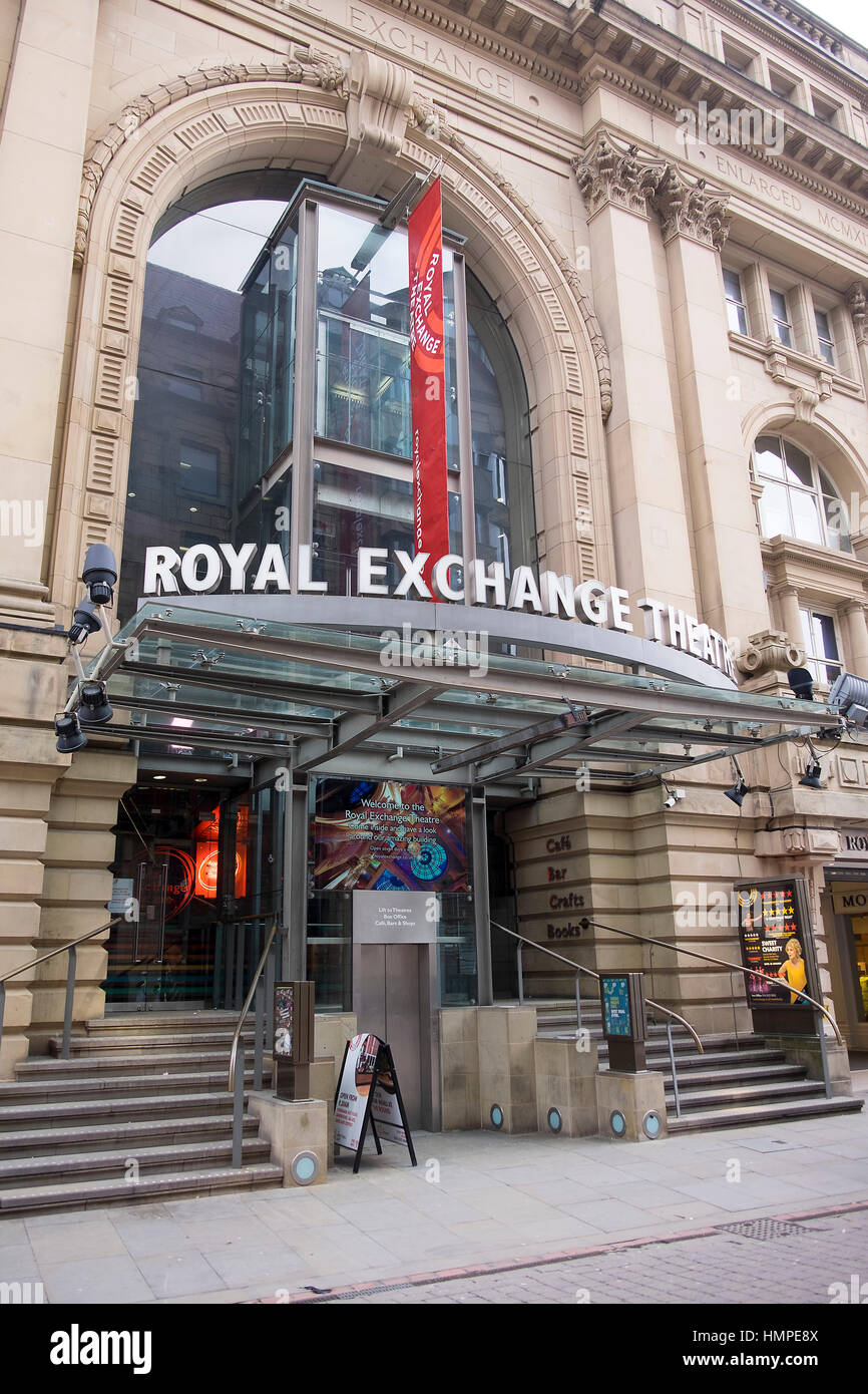 Royal Exchange Manchester Stock Photo