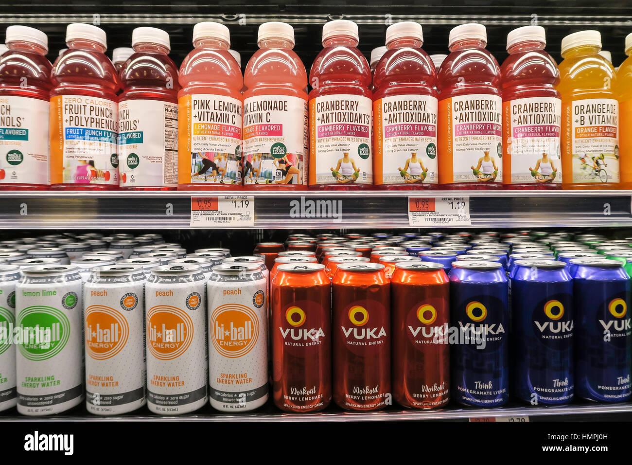 Whole Foods Market Bryant Park, NYC, USA - Stock Image