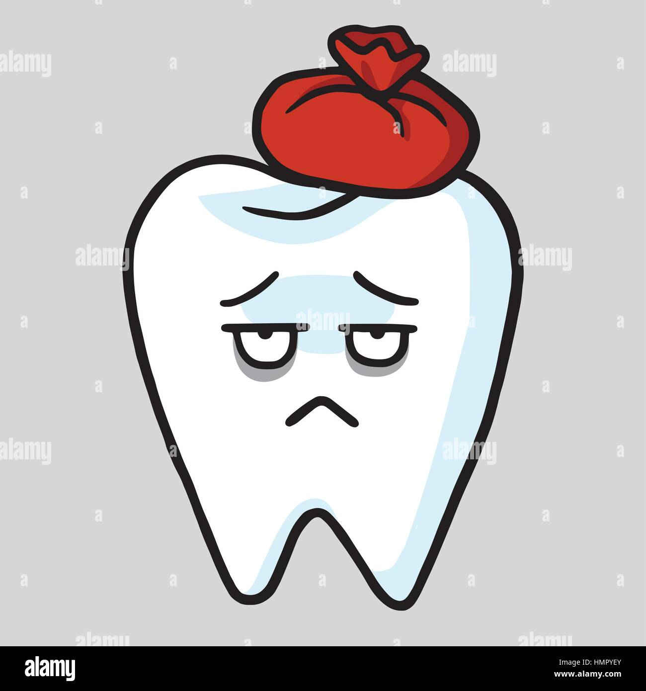 Cute Tooth Cartoon Toothache Vector Illustration Stock Vector Image Art Alamy