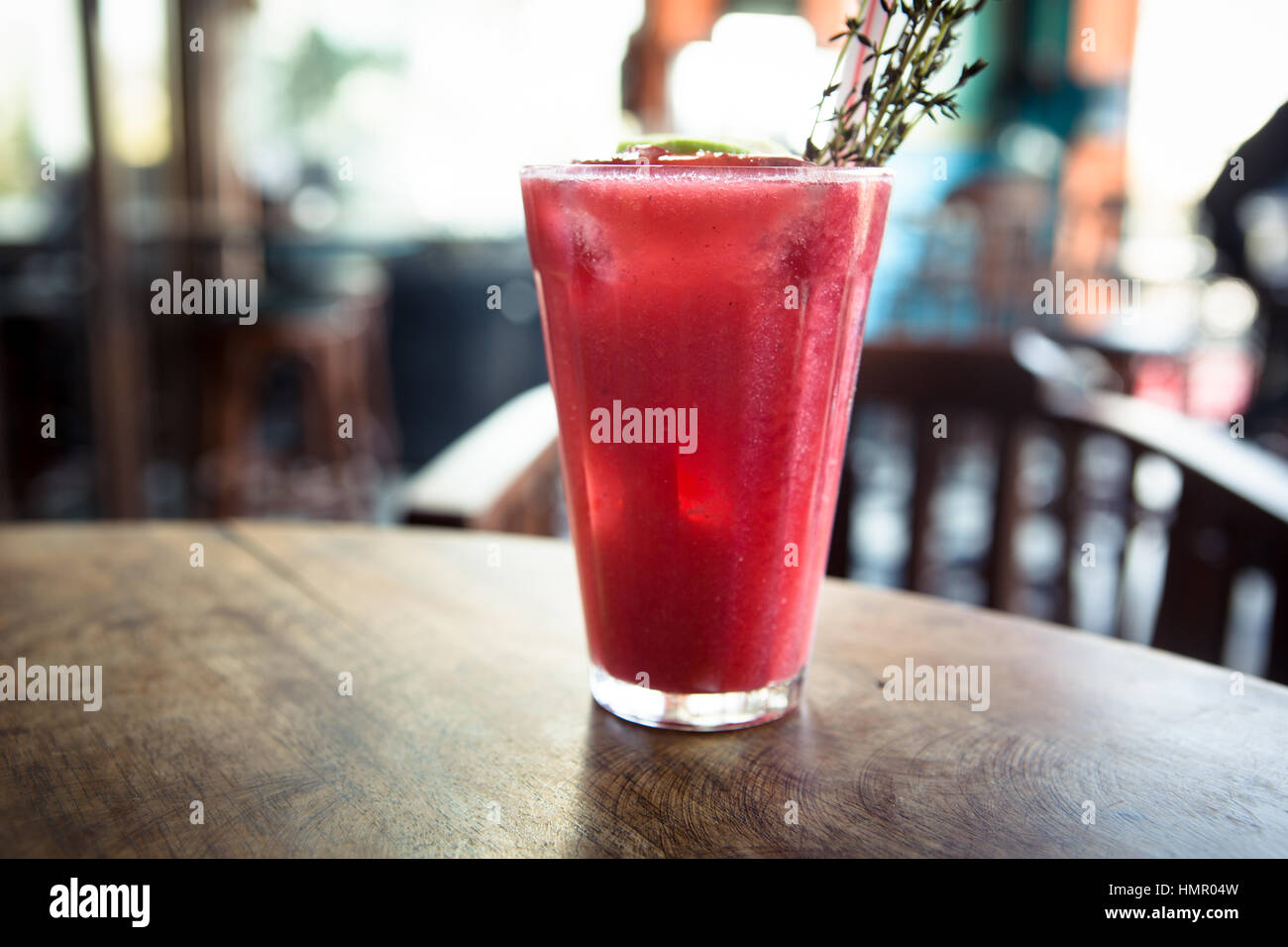 Pallonji Raspberry soda is a popular Parsi drink served during Parsi Weddings - Stock Image